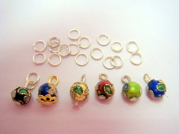 Set de 6 piercings para decorar las uñas