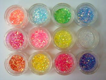 Decorar Con Purpurina.Purpurina Y Lentejuelas En Colores Neon Para Unas